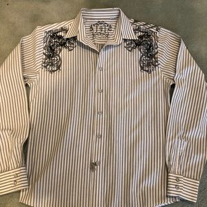 191 UNLIMITED Boys XL Casual Button Down Shirt